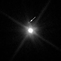 Makemake moon Hubble image with legend cropped