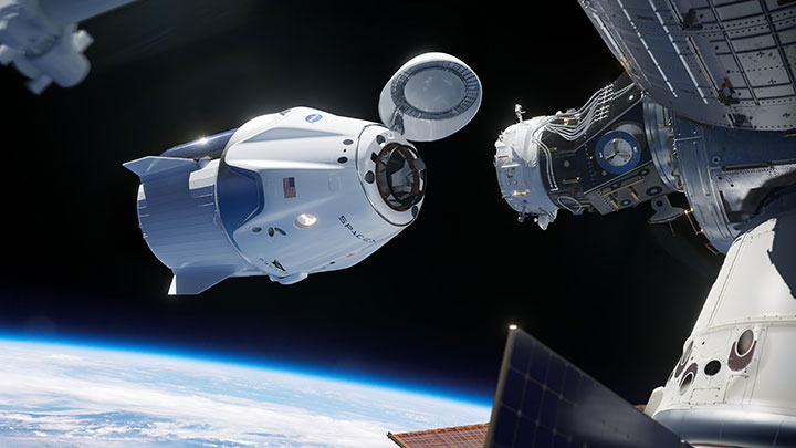 Crew Dragon approaches the ISS SpaceX