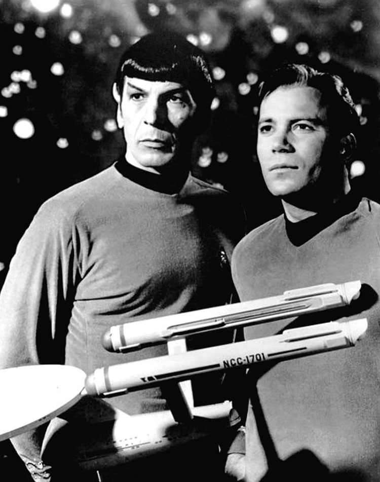 Leonard Nimoy William Shatner Star Trek 1968